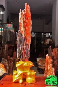 NO.4914红色树化玉