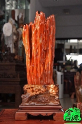 NO.5048红色树化玉